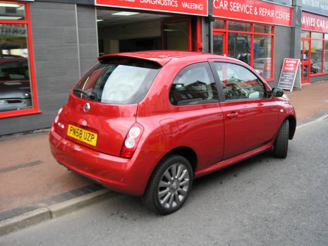 nissan micra 1 2 tekna 3dr for sale in ellesmere port davies car sales. Black Bedroom Furniture Sets. Home Design Ideas