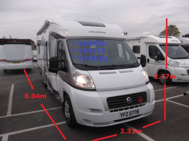 Cars For Sale Kendal Uk: 2007 HOBBY CLASSIC TOSKANA EXCLUSIVE 750 ELC (LHD) For