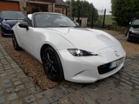 MAZDA mx5 convertible 1.5 sport - auto convertible a/c sport auto paddle shift 2015 740 miles white unregistered