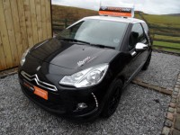 CITROEN DS3 1.6 DSTYLE HDI hatch 2010 60 reg 1 owner from new fsh leather - white roof - chrome mirrors - 0 tax