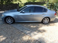 BMW 3 SERIES 320D M SPORT 4 door saloon in metallic blue water & suede sport seats climate & cruise control