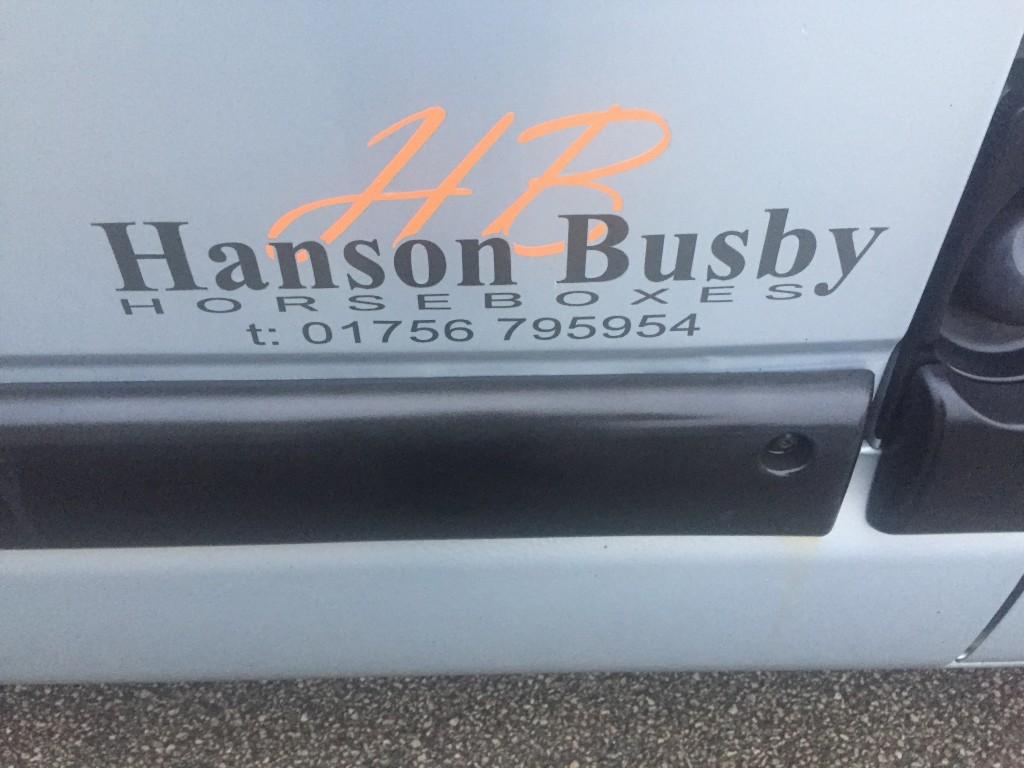 RENAULT MASTER Hanson Busby Horsebox