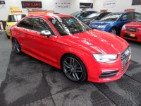 AUDI A3 2.0 S3 TFSI QUATTRO 4DR SALOON 2015 FSH 28K 1 PRE OWNER DYNAMIC-COMFORT PCK CRUISE NAV GREAT SPEC