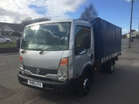 NISSAN CABSTAR 2.5 35.13 MWB DROPSIDE WITH REAR CURTAIN FRAME