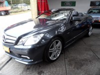 MERCEDES-BENZ E-CLASS 3.0 E350 CDI BLUE EFFICIENCY SPORT 2DR AUTO CONVERTIBLE HEATED SCARF- XENONS CRUISE AMG ALLOYS ELEC