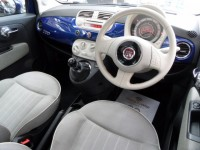 FIAT 500 1.2 LOUNGE 3DR A-C ALLOYS PANORAMIC GLASS SUNROOF MULTI FUNCTION STEERING WHEEL BLUE-TOOTH USB IPOD