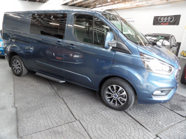 2019 (19) FORD TRANSIT CUSTOM 2.0 320 LIMITED 170PS DCIV L2 H1 6 SEATS DOUBLE-CAB VAN LWB SAT NAV ICE PACK 24 ADAPTIVE CRUISE A/C