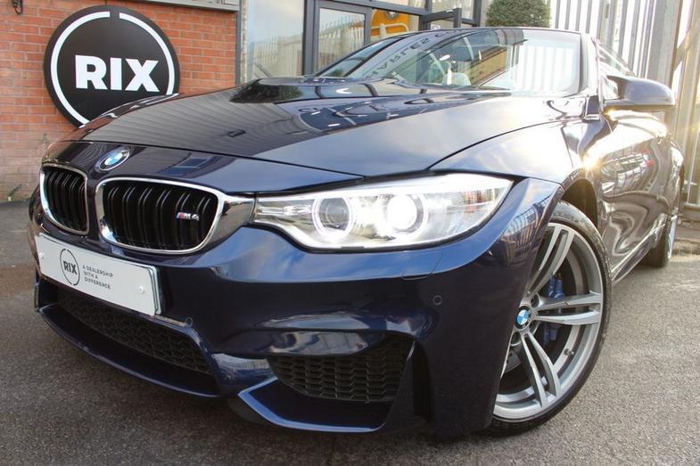 2014 BMW M4 3.0 M4 2d AUTO 426 BHP-TANZANITE BLUE-HEATED SILVERSTONE EXTENDE