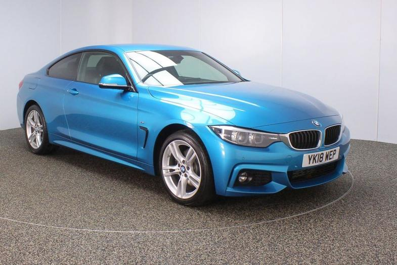 2018 BMW 4 SERIES 3.0 430D XDRIVE M SPORT 2DR AUTO 255 BHP FULL LEATHER + SAT NAV