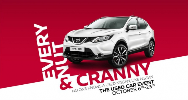 Crosby Park Nissan Used Car Event Start 6th October 2017