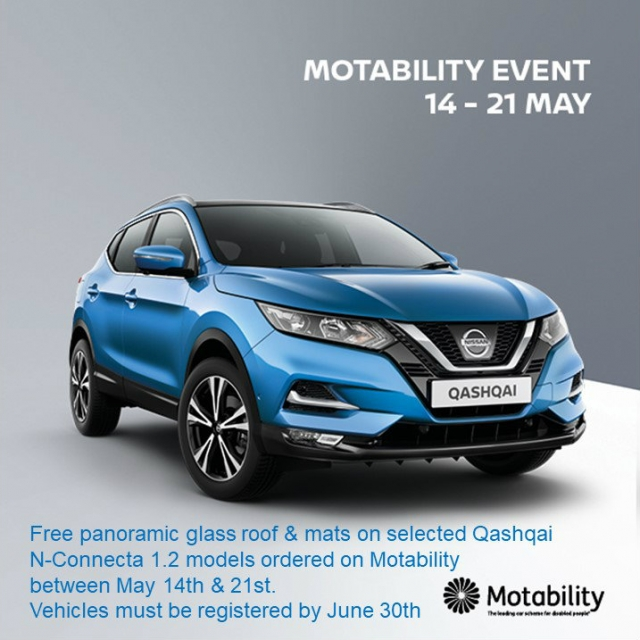 Nissan Motability Event From May 14th - 21st 2018