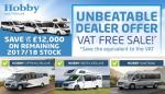 Hobby VAT Free Sale