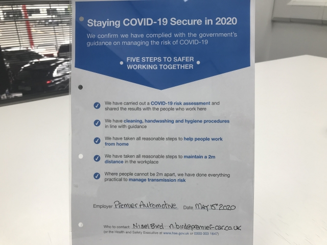 How Premier are operating during the latest Covid-19 restrictions