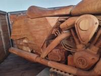 ABARTH woooden art Rare artistic piece