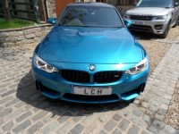 BMW M3 BMW M3 3.0 DCT COMPETITION PACKAGE SALOON INDIVIDUAL COLOUR LONG BEACH BLUE 4DR PADDLE SHIFT DOUBLE