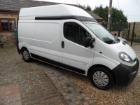 VAUXHALL VIVARO 1.9 DTI 2900 LWB HGH ROOF DIESEL 105 bhp FULL MOT HPI CLEAR PLY LINED REAR SIDE LOAD DOOR 3 SEATS C