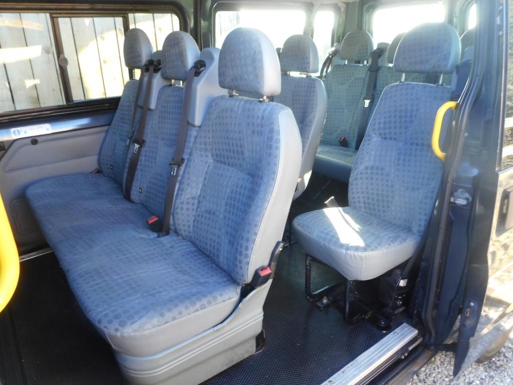 FORD TRANSIT 2.2 300 DIESEL TREND 110 T300 SHR 9 - 12 SEATER METALLIC GREY 2009 140K LONG MOT HPI CLEAR AA DEAL