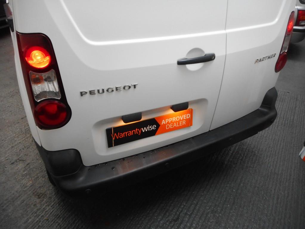 PEUGEOT PARTNER 1.6 HDI S L1 850 90-bhp DIESEL VAN NO VAT 1 OWNER REAR LINED - LED LIGHTS F/S/H AA APPROVED DEALER
