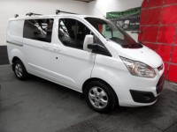 FORD TRANSIT CUSTOM 2.0 290 LIMITED LR DCB 130-PS SWB 6 SEATS A/C ALLOYS CRUISE HEATED SEATS REVERSING CAMERA FSH