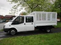 FORD TRANSIT 2.4 350 LWB CREW CAB (6 SEATER) TIPPER (72,000 MILES)