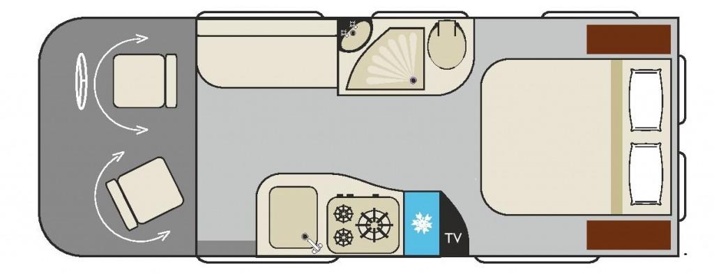 WILDAX Elara (Single Bed Layout)