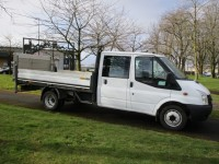 FORD TRANSIT DROPSIDE WITH TAIL LIFT 2.4 T350 RWD  ONLY 41,000 MILES - FSH
