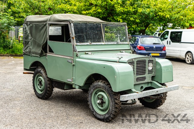 Used LAND ROVER series one  lights behind the grill in Lancashire