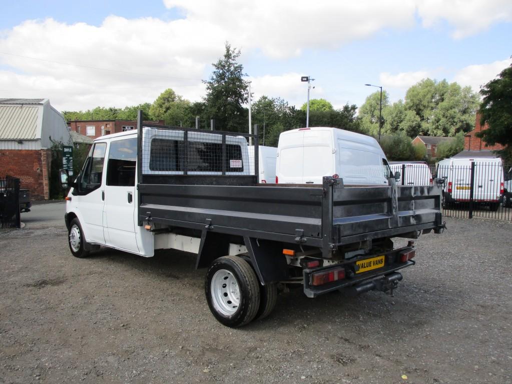 FORD TRANSIT TIPPER CREW CAB 2.4 RWD T350 - 6 SPEED - 75,000 MILES - MOT AUG 2022