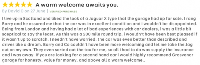 A warm welcome awaits you. (Autotrader)