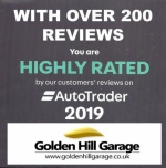 Golden Hill earns an Auto Trader Highly Rated customer service award 2019
