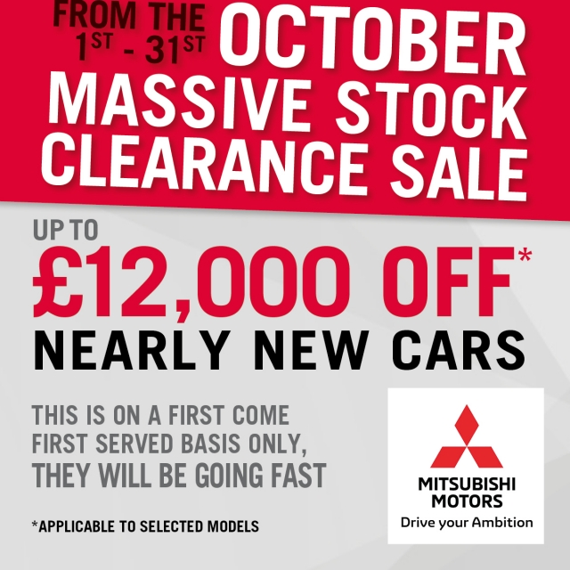Massive OCTOBER CLEARANCE SALE STARTS OCT 1st