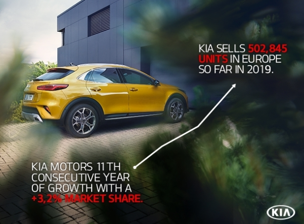 KIA MOTORS TOPS HALF A MILLION SALES IN EUROPE FOR THE FIRST TIME